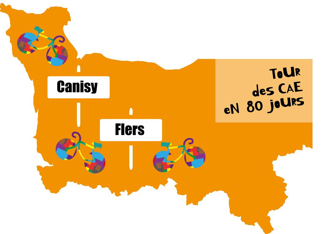 Carte tour des CAE